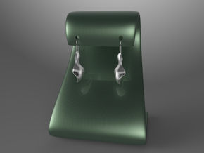 Qer earring in Polished Bronzed Silver Steel