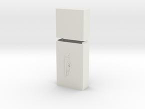 "Keychain ""Gárgola"" in White Natural Versatile Plastic"