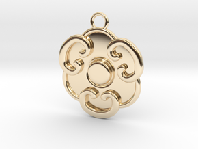 Llavero Hongo in 14k Gold Plated Brass