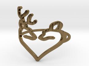 Size 6 Buck Heart in Polished Bronze