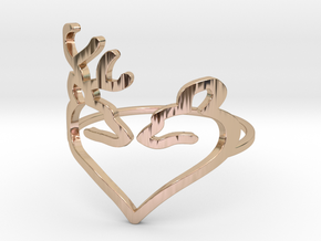 Size 8 Buck Heart in 14k Rose Gold Plated Brass