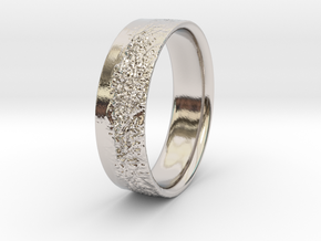 The Alps Ring in Rhodium Plated Brass