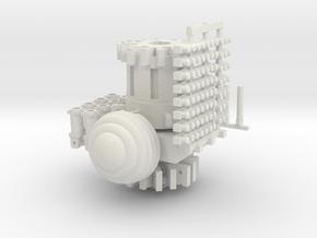 beecenterwithturbostripsandbase in White Natural Versatile Plastic