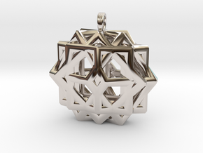 CUBE THIRTY-SIX in Rhodium Plated
