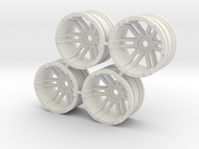 "Rim Fuel 1/8"" offset - Losi McRC/Trekker in White Strong & Flexible"