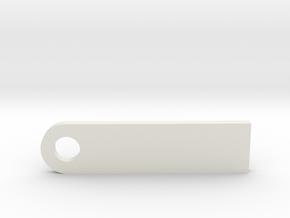 Tag in White Natural Versatile Plastic