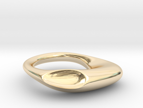 Shemoore Conchiglia Ring in 14k Gold Plated Brass