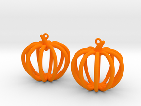 Pumpkin Earrings in Orange Processed Versatile Plastic