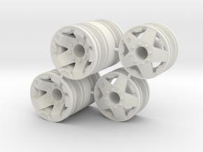Rim Rockstar 4x4 Dually Set - Losi McRC/Trekker in White Natural Versatile Plastic