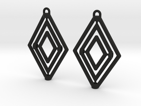 Diamond Gyrocope Earrings in Black Natural Versatile Plastic