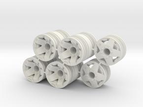 Rim Rockstar 6x6 Dually Set - Losi McRC/Trekker in White Natural Versatile Plastic