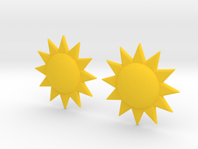 Sun Studs in Yellow Processed Versatile Plastic