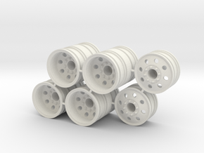 Rim Eagle 6x6 Dually Set - Losi McRC/Trekker in White Strong & Flexible
