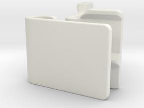 Gopro S-Mount (10 degrees) in White Natural Versatile Plastic