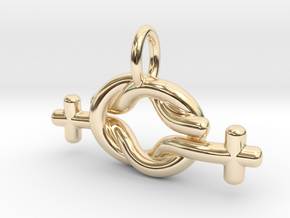 Lesbian Love Small in 14k Gold Plated Brass