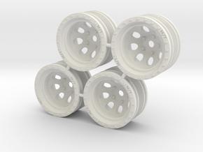"""Rim MT Classic 1/4"""" offset - Losi McRC/Trekker in White Natural Versatile Plastic"""
