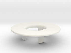 Cable protection ring in White Natural Versatile Plastic