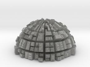 Semi-Ghost Sphere (semi sphere ghost town) in Metallic Plastic