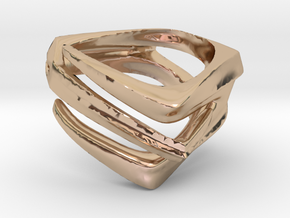 Alien (Size 12) in 14k Rose Gold Plated Brass
