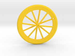 Wheel Pendant in Yellow Processed Versatile Plastic