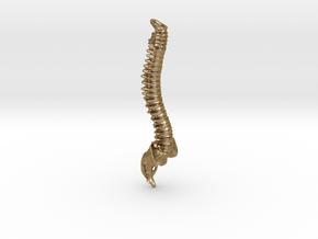 Spine Bottle Opener Keyring in Polished Gold Steel