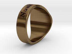 Buperball Noah Ring Season 5 in Polished Bronze