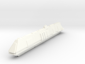 Futuristic Submarine Concept - Deep Shadow in White Processed Versatile Plastic