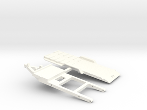 1/64 Tilt Trailer - ERTL Hitch in White Processed Versatile Plastic