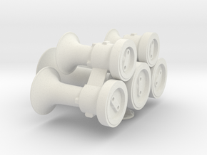 "M5 Horn 2.5"" (1:4.5) scale in White Natural Versatile Plastic"