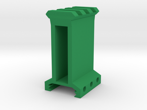 "2"" High 3 Slots Picatinny Riser in Green Processed Versatile Plastic"
