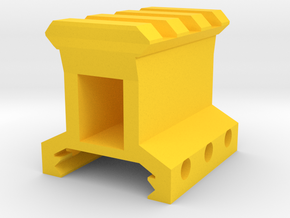 """1"""" High 3 Slots Picatinny Riser in Yellow Strong & Flexible Polished"""