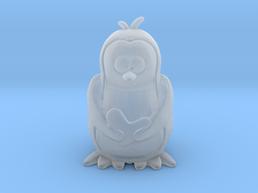 Tiny Penguin in Smooth Fine Detail Plastic