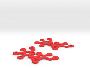 Sucrose earrings in Red Processed Versatile Plastic
