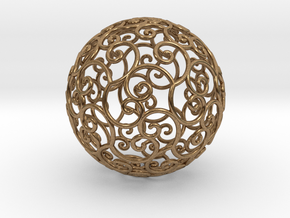 Triskel celtic sphere 3 (2,8+4) in Natural Brass