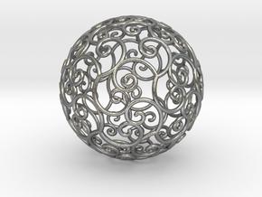 Triskel celtic sphere 3 (2,8+4) in Natural Silver