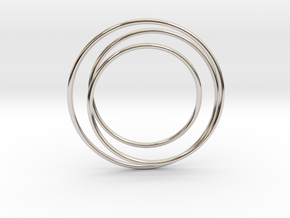 """Cage Mysteryfor """"Mystery Planet"""" in Rhodium Plated Brass"""