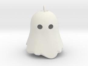 Little Ghostie pendant 1 in White Natural Versatile Plastic