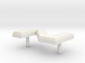 Retroën Character N in White Natural Versatile Plastic