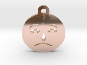 Sadness - Emotional in 14k Rose Gold Plated Brass