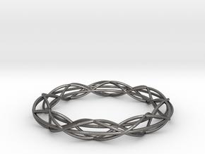 Twist Bangle A08M in Polished Nickel Steel