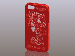 iPhone5_The Chinese Style--Traditional Opera 01 in Red Processed Versatile Plastic