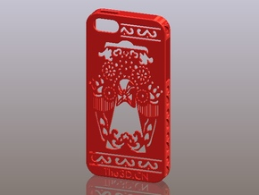 iPhone5_The Chinese Style--Traditional Opera 05 in Red Processed Versatile Plastic