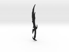 Skyrim Daedric Sword Letter Opener in Black Natural Versatile Plastic