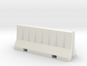 1/14 Scale Road Barrier in White Natural Versatile Plastic