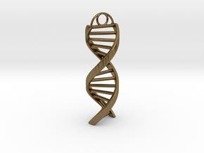 DNA Keychain in Natural Bronze