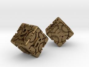 DICE 2 pack in Natural Bronze