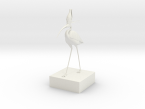 Egyptian Ibis in White Natural Versatile Plastic