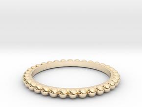 Bague Perlé in 14k Gold Plated Brass