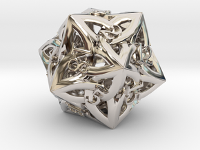 Large Celtic D20 in Platinum