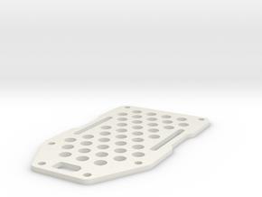 Armattan Morphite 180 Top Plate in White Natural Versatile Plastic